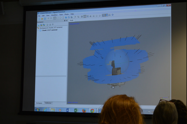 Isabella demonstrates Agisoft Photoscan
