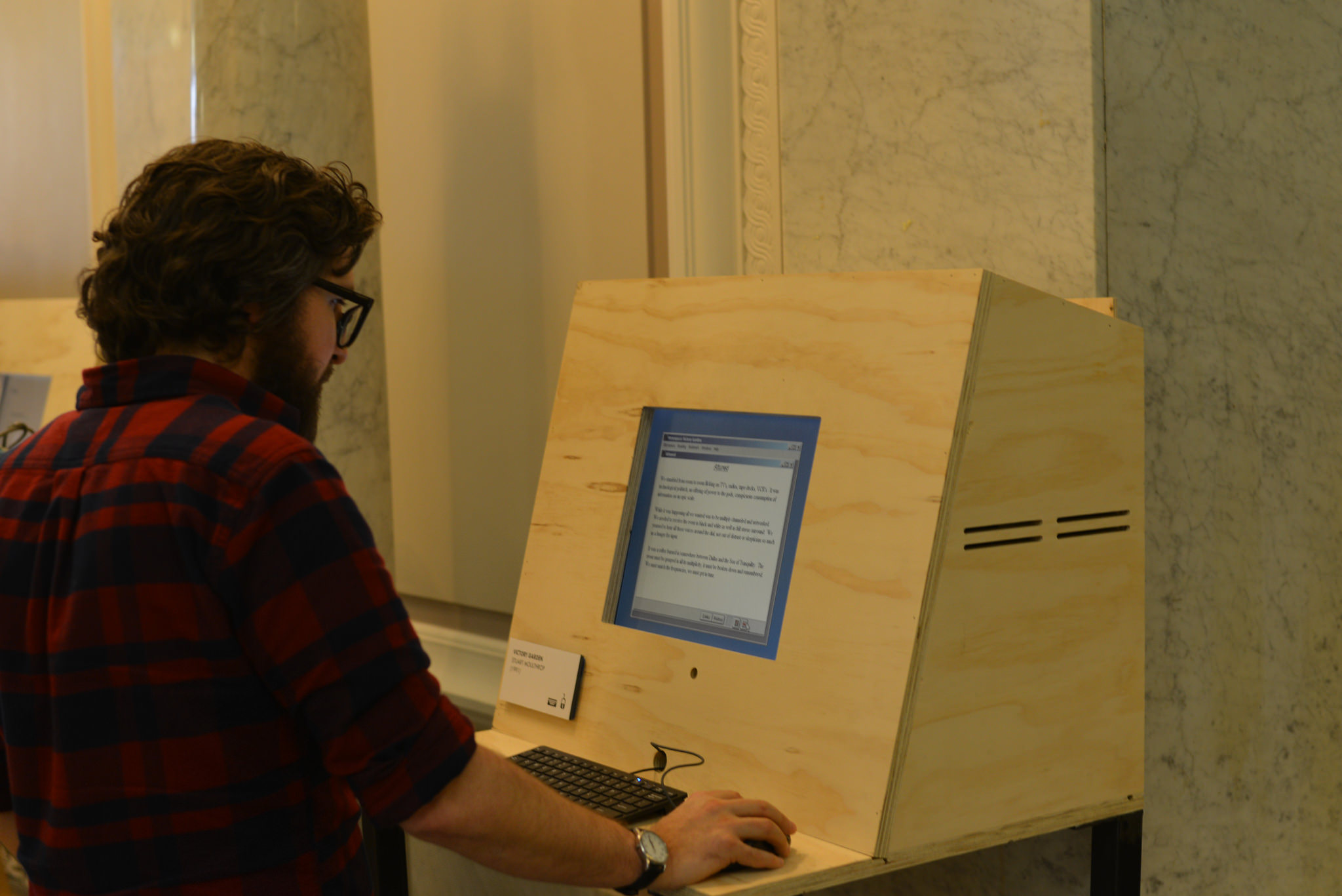 No Legacy || Literatura Electronica Exhibition Opening on 3/11/2016 in the Morrison Reading Room of Doe Library. Featuring electronic literature poetry and readings. Credit: BCNM