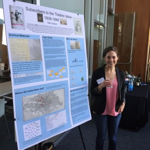 Nell Cloutier presents a poster at DH Faire 2015