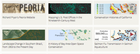 Gallery of Spatial History Project at Stanford University http://web.stanford.edu/group/spatialhistory/cgi-bin/site/gallery.php