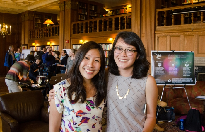 Cindy Nguyen and Camille Villa at DH Faire 2016
